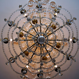 Antique chandelier 2 by Anita Berghoef - Artistic Objects Antiques ( glass chandelier, chandelier, amsterdam the netherlands, glass, museum, architecture, looking up, antique, museum van loon )