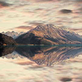 Lake Wakatipu Queenstown New Zealand   by Anupam Hatui - Landscapes Mountains & Hills ( lake wakatipu, reflection, queenstown, mountain, new zealand )