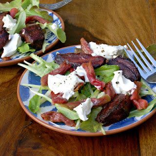 Rhubarb, Beetroot & Goat's Cheese Salad