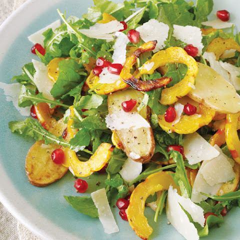 Delicata Squash Salad with Fingerling Potatoes and Pomegranate Seeds