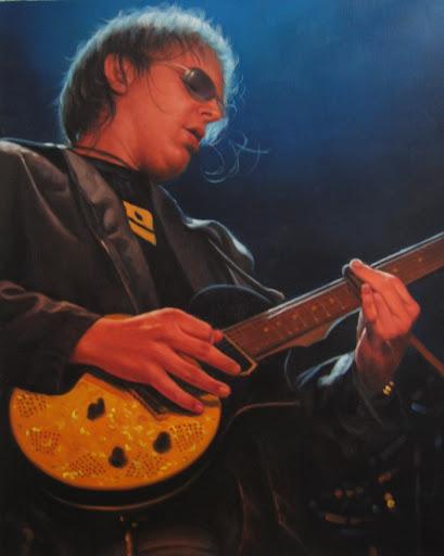 Joe Bonamassa - Olieverf op Canvas - 40 x 50 cm
