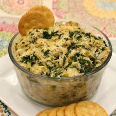 Cheesy Spinach, Artichoke and Crab Dip
