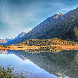 Reflecting Tern Lake by Patricia Phillips - Landscapes Travel ( lakes alaska tern reflections )