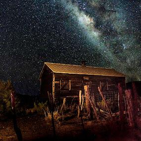 Castolon Big Bend by Jim O'Neill - Landscapes Starscapes ( big bend, castolon visitor center, texas, national parks, big bend national park, night sky, milky way )