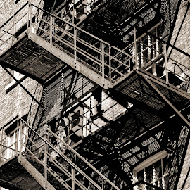... by Daniel Gaudin - Buildings & Architecture Architectural Detail ( detail, building, exterior, staircase, architecture )