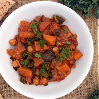 Aubergine, Sweet Potato and Kale Curry [vegan]