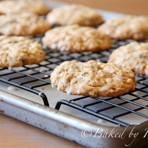 Applesauce Oatmeal Cookies with Maple Glaze