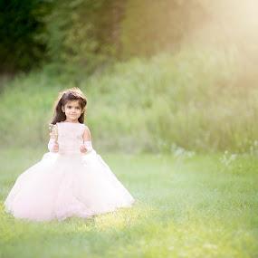 Princess by Angel Solomon Caracciolo - Babies & Children Child Portraits ( princess, girl, dress, gown, sunlight, toddler )