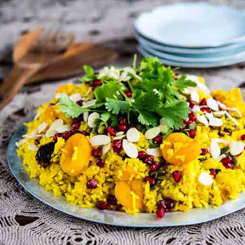 Apricot, Almond & Pomegranate Rice Pilaf