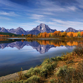 A Perfect Autumn Reflection by Al Juniarsam  - Landscapes Mountains & Hills ( pwcautumn_dq )