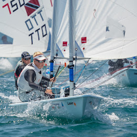 Women's Laser Radial World Championships by John Pounder - Sports & Fitness Watersports ( vallarta yacht club, radial, mexico, laser, women, championship, world )