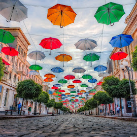 colourful street by Cornelius D - City,  Street & Park  Street Scenes