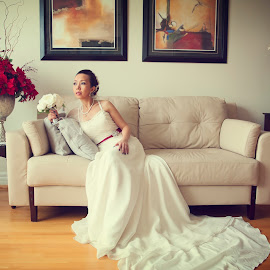 The Uptown Bride by Henry Chao - Wedding Bride ( wedding photography, canada, window light, wedding, wedding dress, bride and groom, bride )