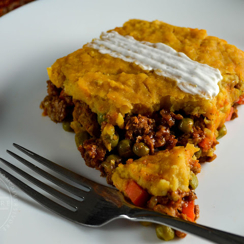 Indian Spiced Shepherd's Pie with Mashed Red Lentils
