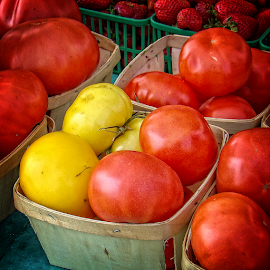 at the farmers' market by Lennie Locken - Food & Drink Ingredients