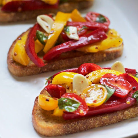 Red & Yellow Bruschetta