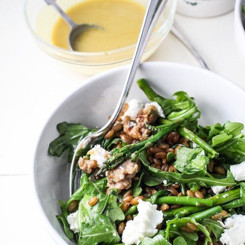 May // Warm Arugula Salad with Maple-Mustard Dressing