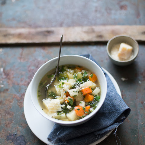 Celery Root, Carrot and Kale Soup