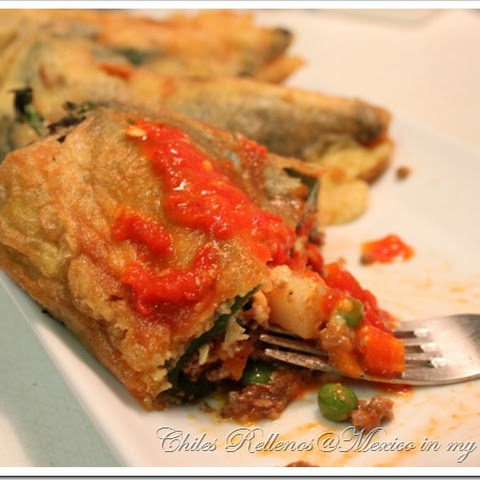 Chiles Rellenos de Picadillo / Stuffed Poblano Peppers
