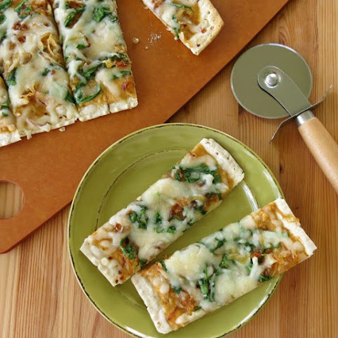 Pumpkin Pizza with Caramelized Onions and Spinach
