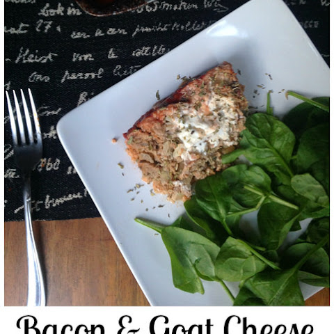 Bacon & Goat Cheese Stuffed Turkey Meatloaf