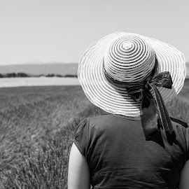 Giulia by Mauro Amoroso - People Portraits of Women ( provence, lavanda, france, blackwhite, valensole )
