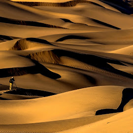 Solitude by Sanjeev Goyal - Landscapes Deserts ( sand dunes, nikon, death valley, photographer, desert )