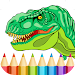Best Dinosaur Coloring Book Icon