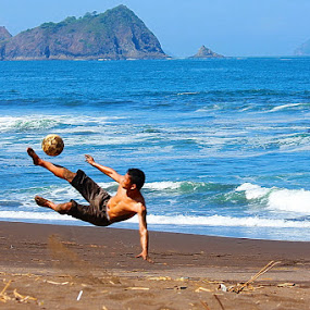 soccer beach  by Andre Pratjojo - Sports & Fitness Other Sports