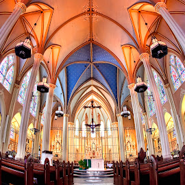 Inner Beauty by Ken Smith - Buildings & Architecture Places of Worship ( church, st john's parish, creighton university )