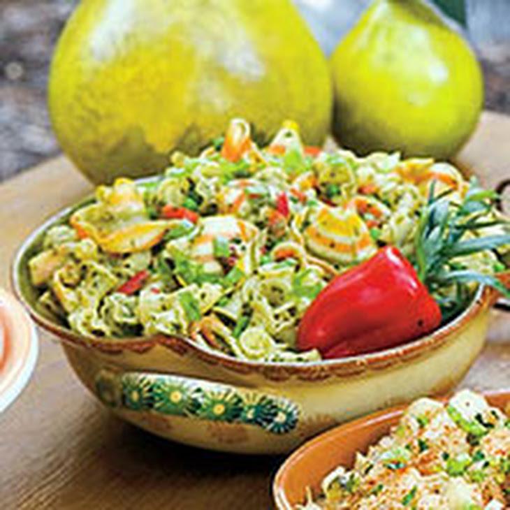 Pasta Salad with Herb Pesto and Peas Recipe | Yummly