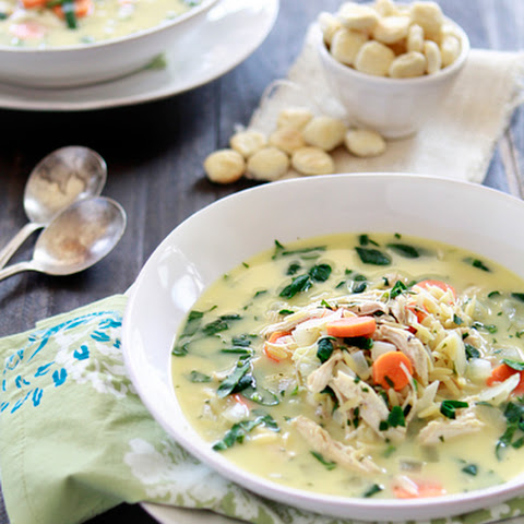 Lemon Chicken and Orzo Soup