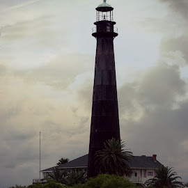 Old Bolivar lighthouse by Brenda Shoemake - Buildings & Architecture Decaying & Abandoned