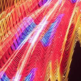 Light rail by Jim Barton - Abstract Patterns ( laser light, colorful, light design, laser design, light rail, laser, laser light show, light, science )