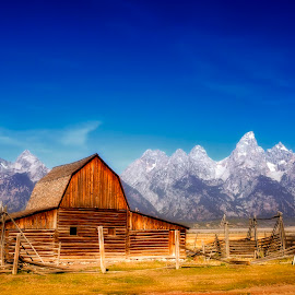 Along Mormon Row by Ken Smith - Landscapes Travel ( mormon row, landscape, grand tetons, moulton barn )