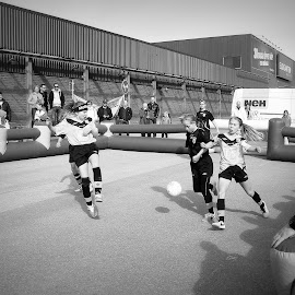 footie by Vygintas Domanskis - Sports & Fitness Other Sports ( stockholm, football, street, sport, city,  )