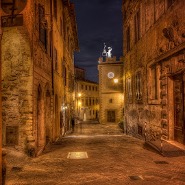Via Di Gracciano Nel Corso by Krasimir Lazarov - City,  Street & Park  Historic Districts ( city scene, tuscany, buildings, tourism, historic district, historical, architecture, cityscape, montepulciano, italy, city street, city )
