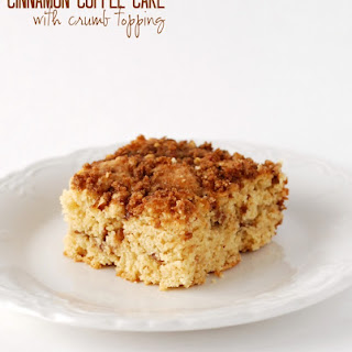 Streusel Filled Cinnamon Coffee Cake