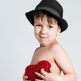 Young man in hat by Tomas Hermansson - Babies & Children Child Portraits