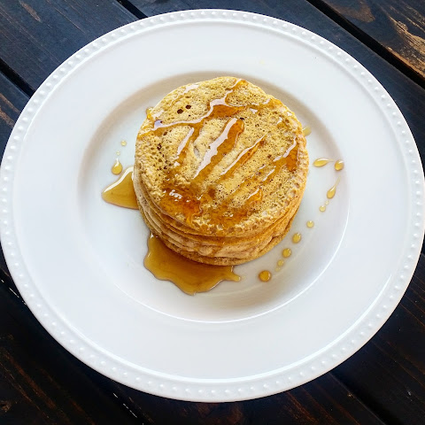 Honey Vanilla Buckwheat Protein Pancakes