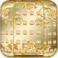 Gold Rose Theme Royal Gold APK for Bluestacks