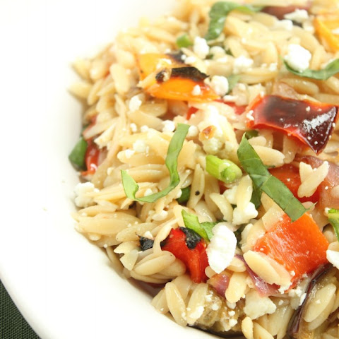 Ina Gartens Orzo with Roasted Vegetables