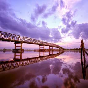 lembayung senja by Andi Adinata - Landscapes Sunsets & Sunrises ( landscape )