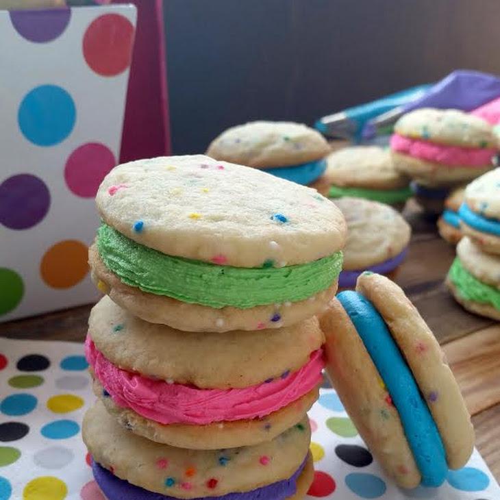Funfetti Sugar Sandwich Cookies with Butter Cream Frosting Recipe ...