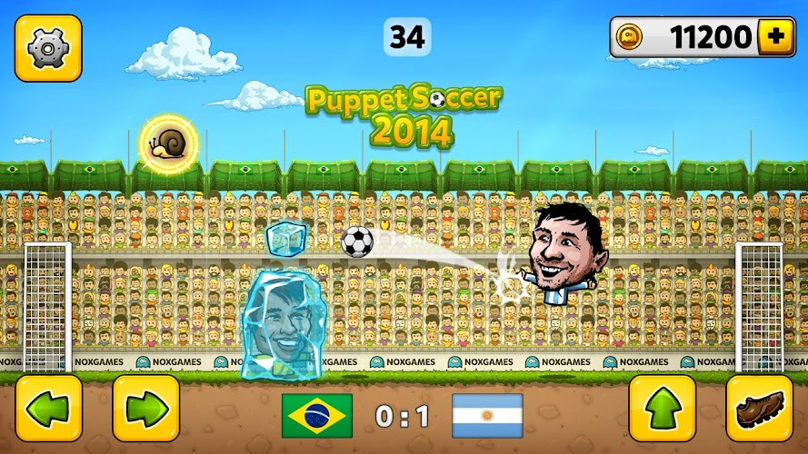 Puppet Soccer 2014 - Football Android App Screenshot