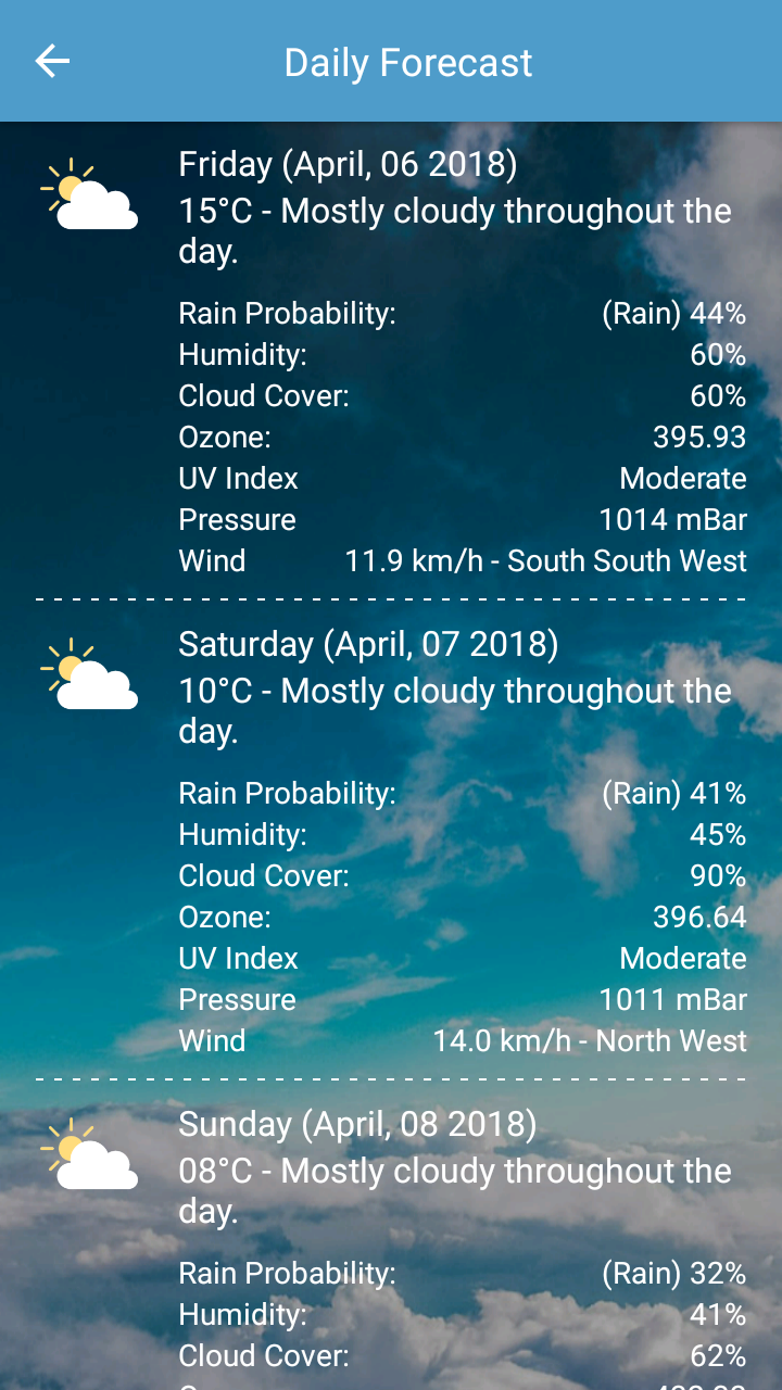 Weather Live Pro Screenshot 2