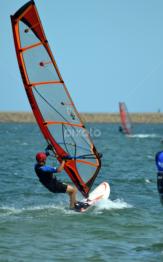 sailboarder 5 by Mark Zouroudis - Sports & Fitness Watersports ( water, sailboard, sunny, botany bay, sail, board,  )