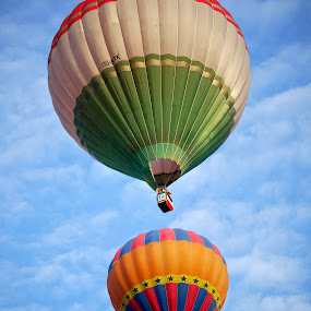 Two hot air balloons by Rozi Rahman - Transportation Other ( hot air balloons )