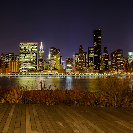 City that never sleeps by Jervin Reyes - City,  Street & Park  Skylines ( lights, urban, skyline, cities, buildings, night, us, new york city, new york, nyc, landscape, photography, nightscape )