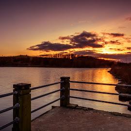 Sunset over Herrington by Phil Reay - Landscapes Sunsets & Sunrises ( park, sunset, herrington, sunderland, country )